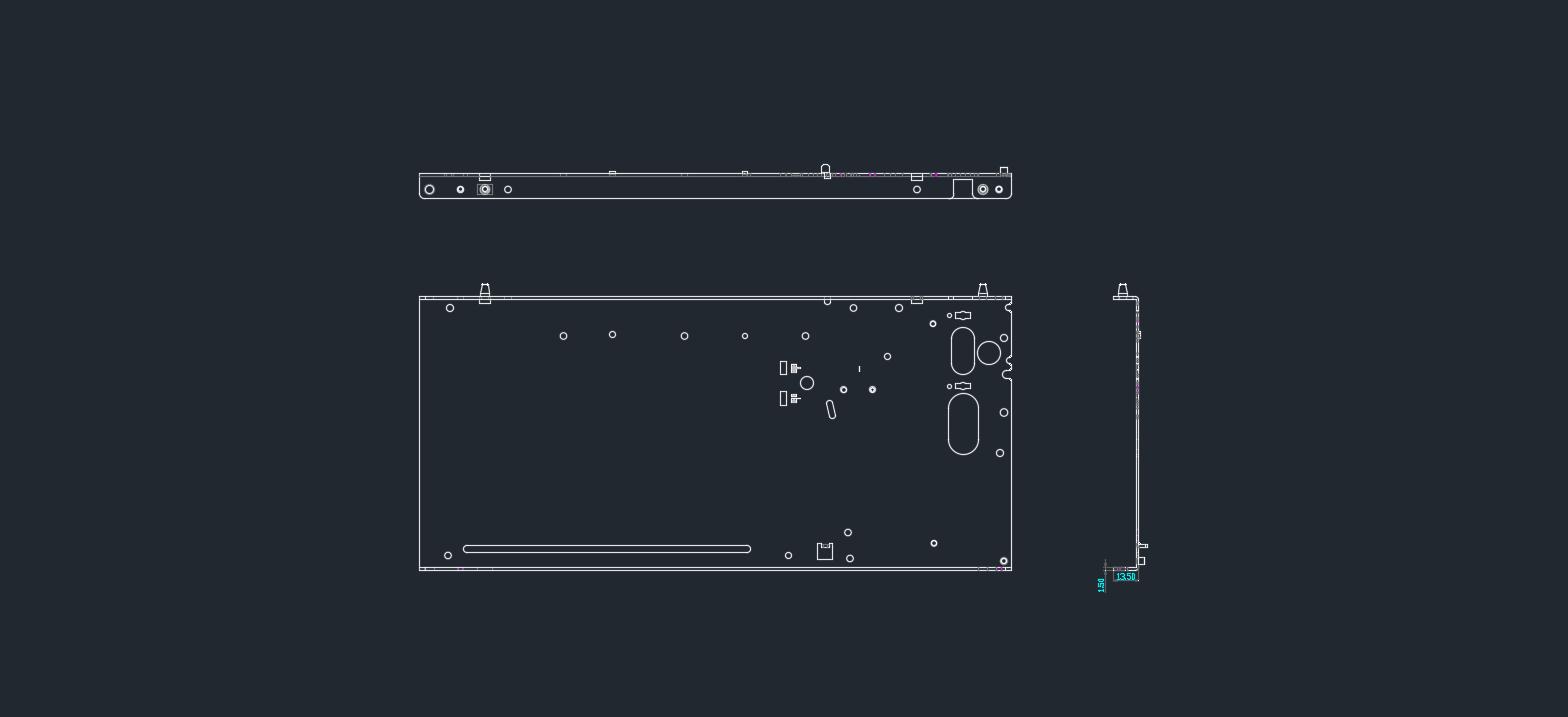 侧板五金冲压件2D图纸