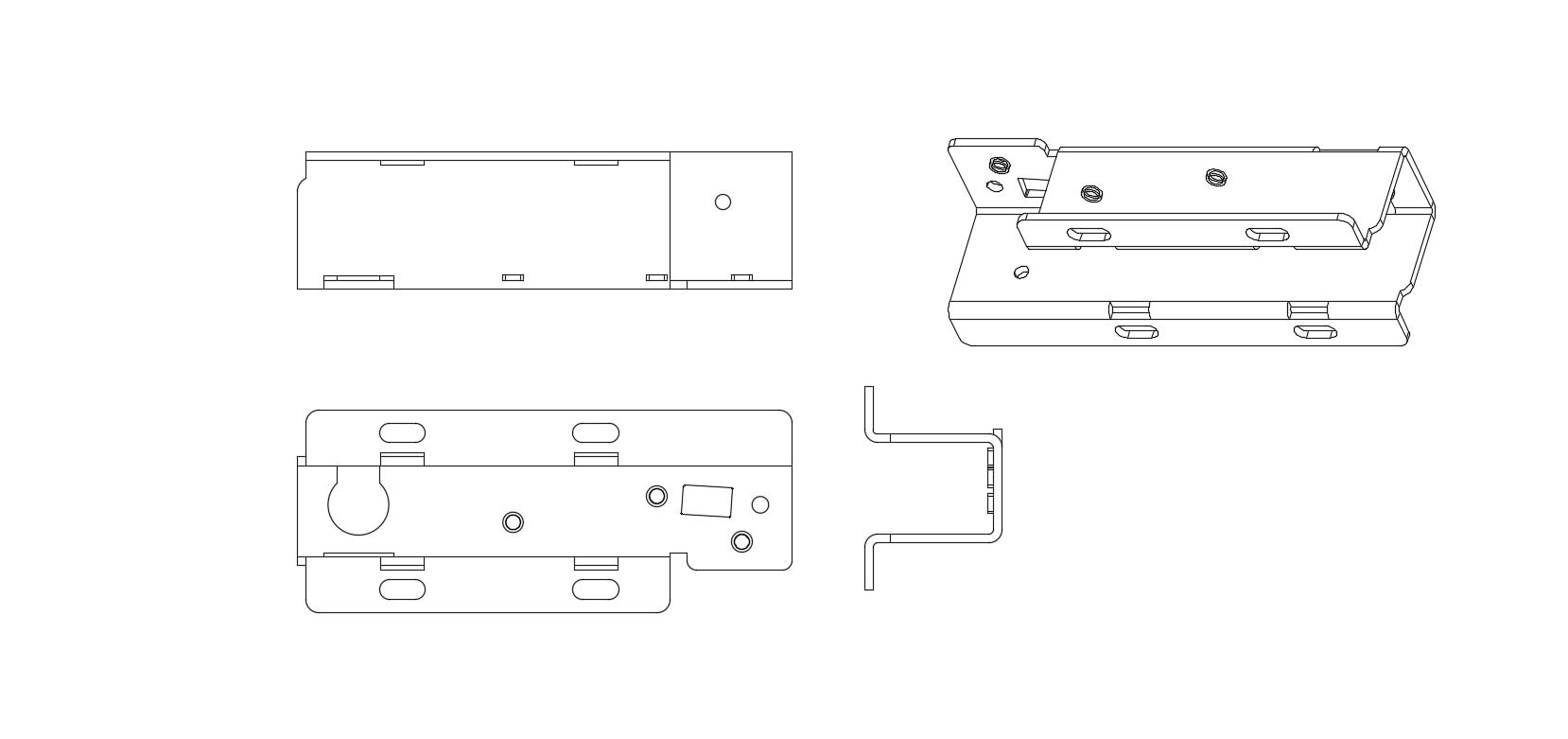 镀锌板钣金件2D图纸