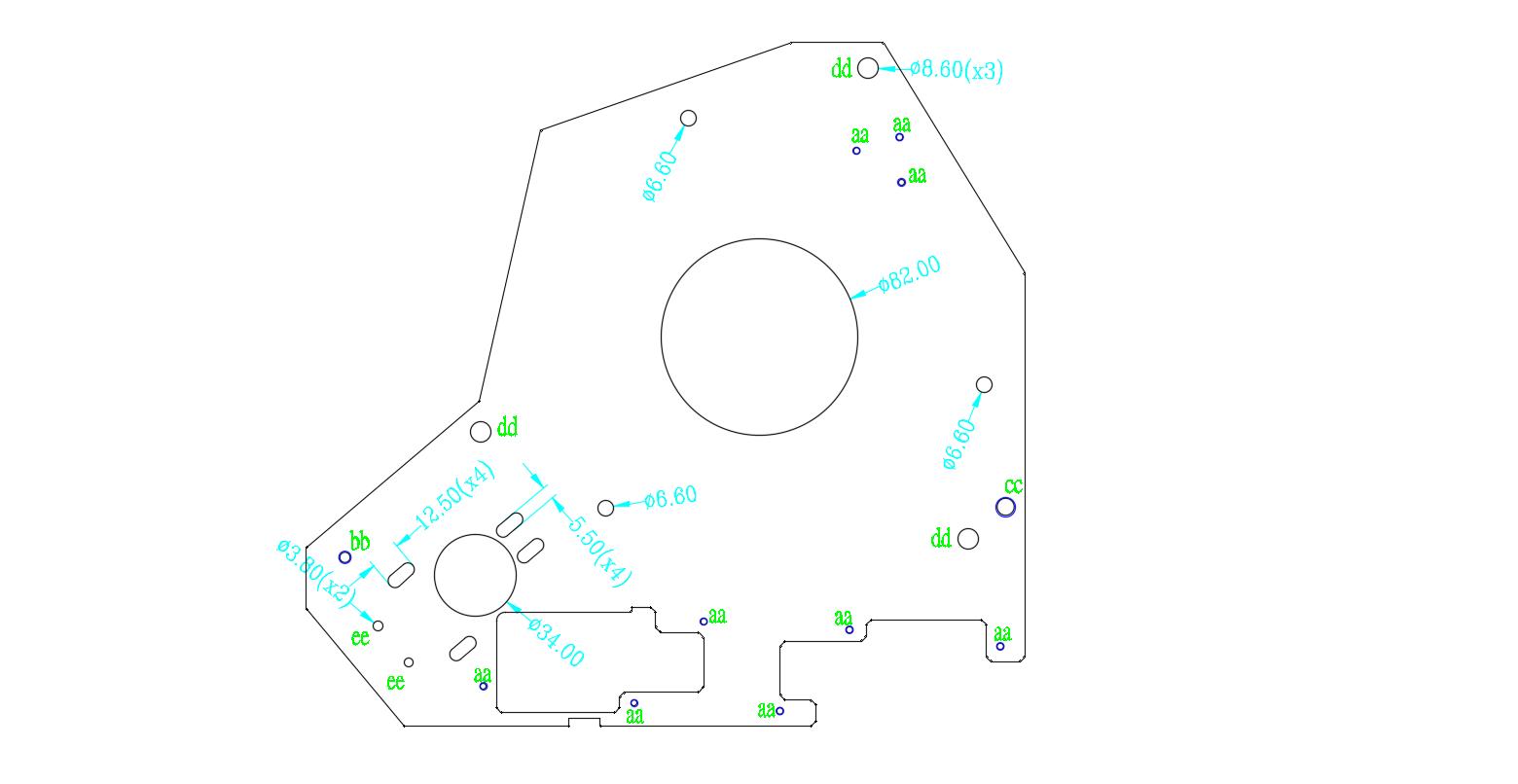 热轧板钣金件2D图纸