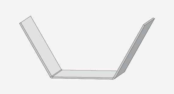 由于钣金零件是由单块金属制成的,因此零件必须保持均匀的壁厚。