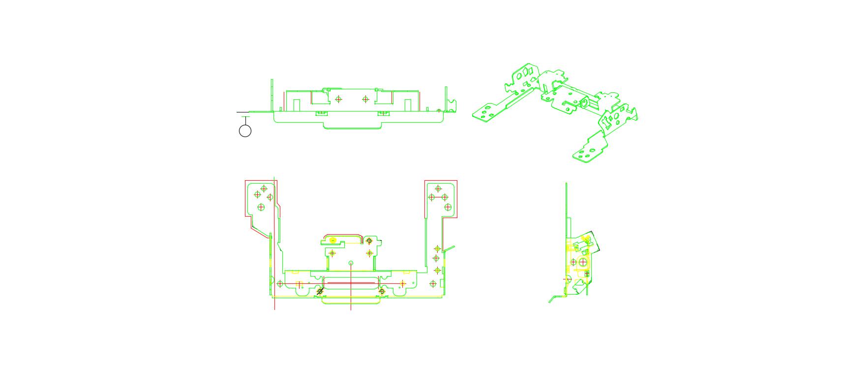 结合板五金冲压件2D图纸
