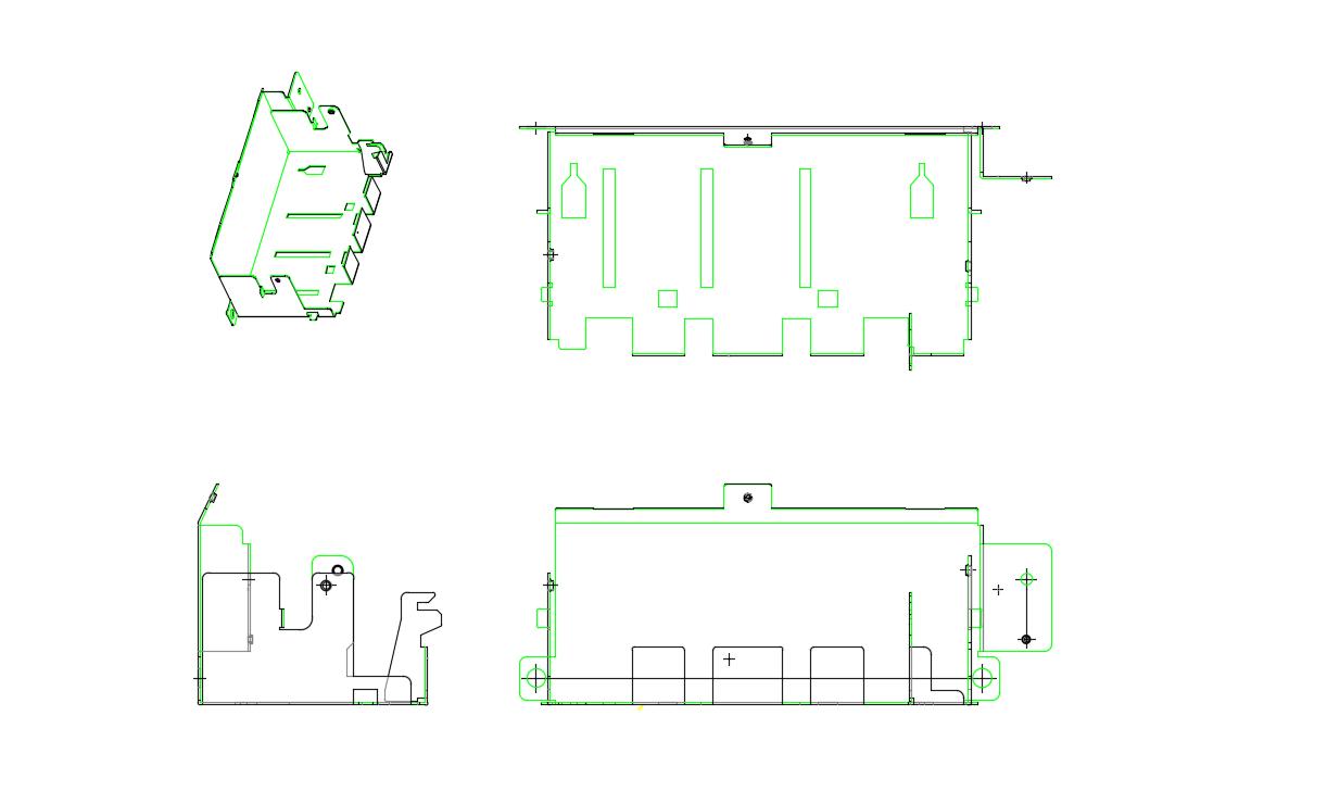 冷轧板五金冲压件2D图纸