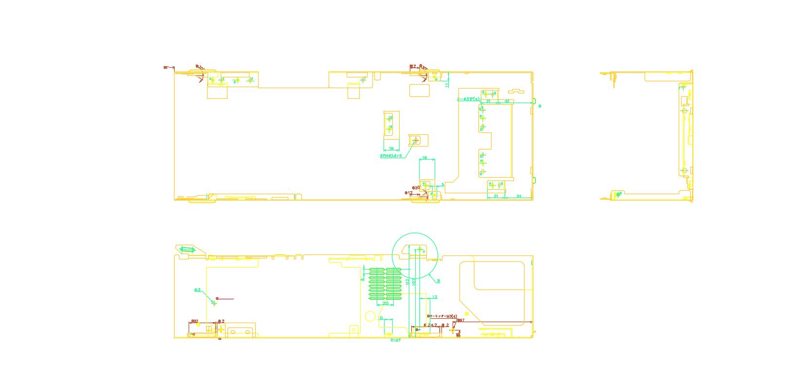 镀锌板五金冲压件2D图纸