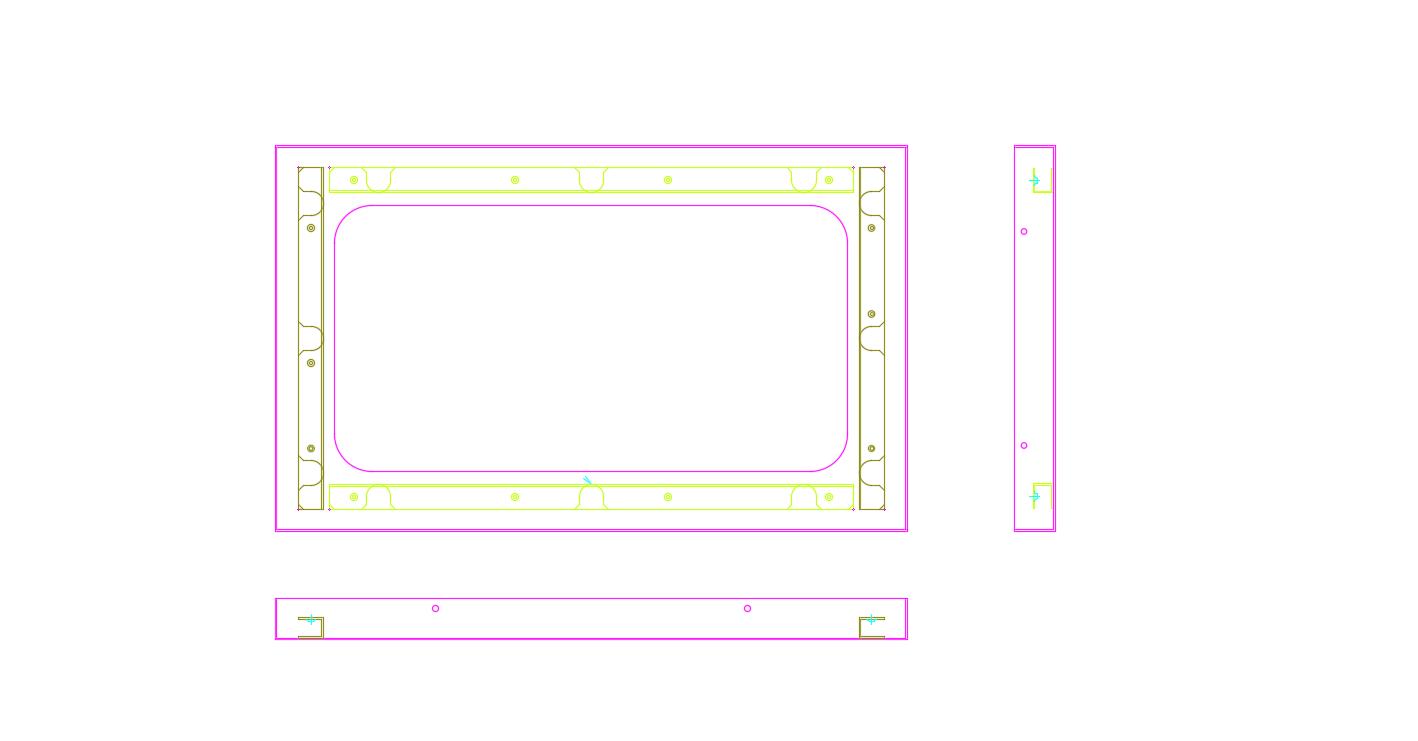不锈钢板金件2D图纸